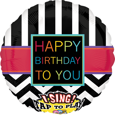 Chevron HBD To You Sing A Tune Foil Round 28in/71cm