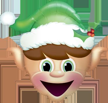 Christmas Elf Foil Shape 35in/89cm