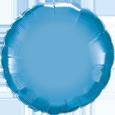 Chrome Blue Foil Round 18in/45cm