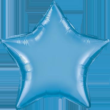 Chrome Blue Foil Star 20in/50cm