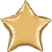Chrome Gold Foil Star 20in/50cm