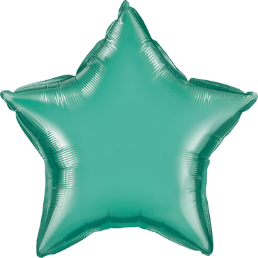 Chrome Green Foil Star 20in/50cm
