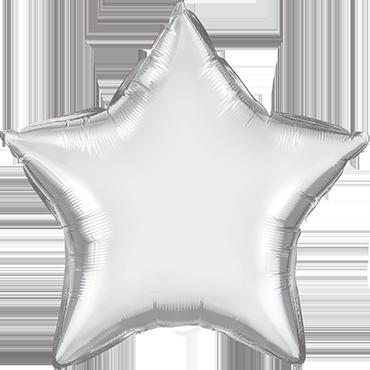 Chrome Silver Foil Star 20in/50cm