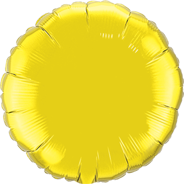 Citrine Yellow Foil Round 18in/45cm