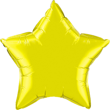 Citrine Yellow Foil Star 20in/50cm
