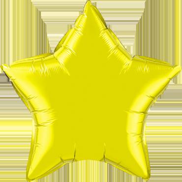 Citrine Yellow Foil Star 20in/50cm