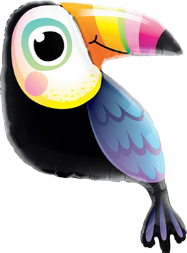 Colourful Toucan Foil Shape 40in/102cm