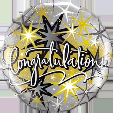 Congratulations Elegant Foil Round 18in/45cm