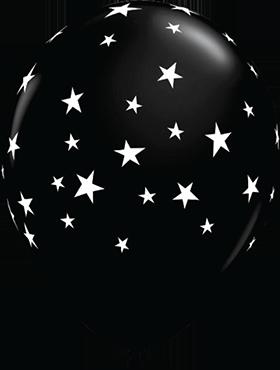 Contempo Stars Fashion Onyx Black Latex Round 11in/27.5cm