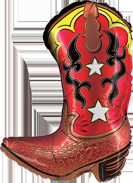 Cowboy Boot Foil Shape 14in/36cm