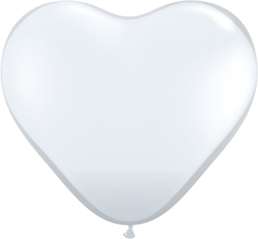 Crystal Diamond Clear (Transparent) Latex Heart 6in/15cm