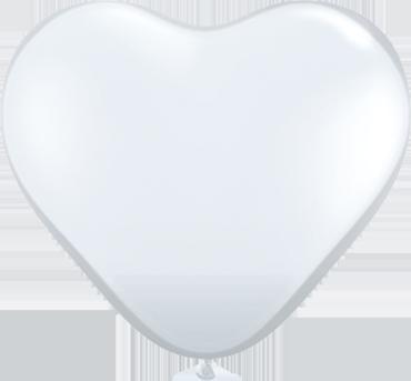 Crystal Diamond Clear (Transparent) Latex Heart 6in/15cm