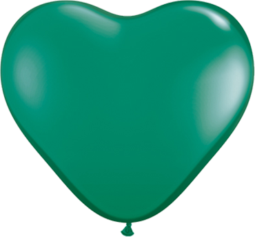 Crystal Emerald Gree (Transparent)n Latex Heart 6in/15cm