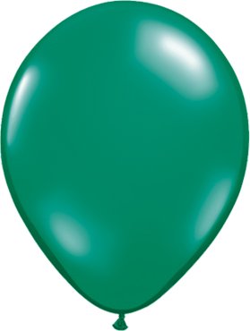 Crystal Emerald Green (Transparent) Latex Round 11in/27.5cm