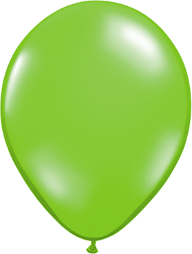 Crystal Lime (Transparent) Latex Round 11in/27.5cm