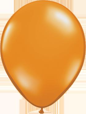 Crystal Mandarin Orange (Transparent) Latex Round 16in/40cm