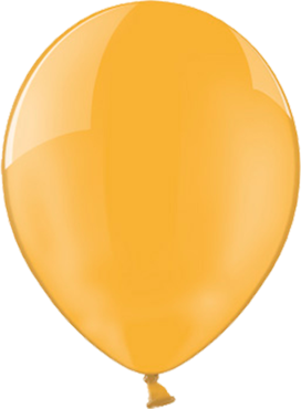 Crystal Orange (Transparent) Latex Round 11in/27.5cm