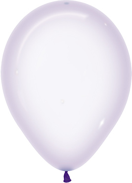 Crystal Pastel Lilac Latex Round 11in/27.5cm