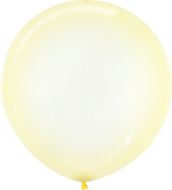 Crystal Pastel Yellow Latex Round 24in/60cm