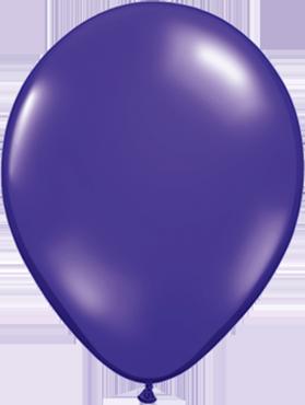Crystal Quartz Purple (Transparent) Latex Round 16in/40cm