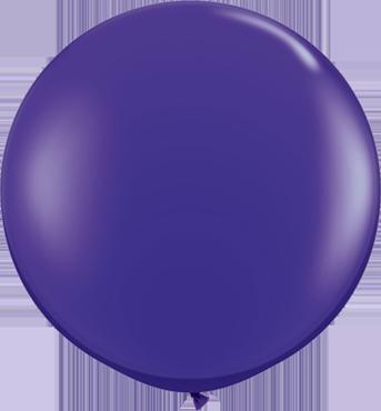 Crystal Quartz Purple (Transparent) Latex Round 36in/90cm
