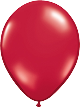 Crystal Ruby Red (Transparent) Latex Round 16in/40cm