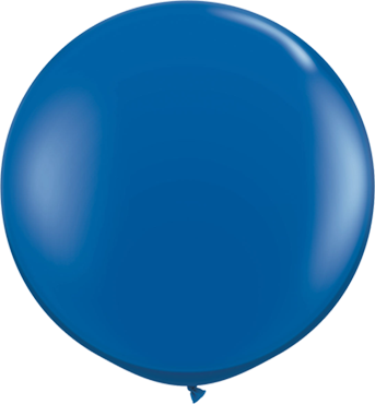 Crystal Sapphire Blue (Transparent) Latex Round 36in/90cm