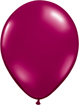Crystal Sparkling Burgundy (Transparent) Latex Round 11in/27.5cm