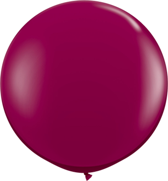 Crystal Sparkling Burgundy (Transparent) Latex Round 36in/90cm