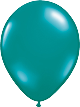 Crystal Teal (Transparent) Latex Round 16in/40cm