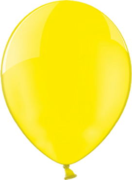 Crystal Yellow (Transparent) Latex Round 5in/12.5cm