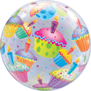 Cupcakes Single Bubble 22in/55cm