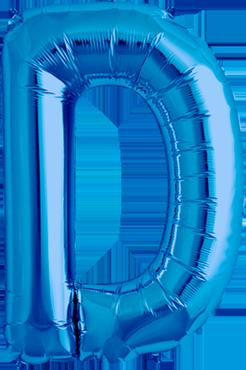 D Blue Foil Letter 34in/86cm