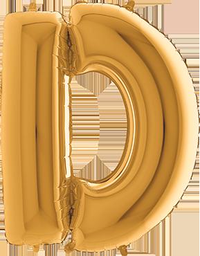 D Gold Foil Letter 7in/18cm