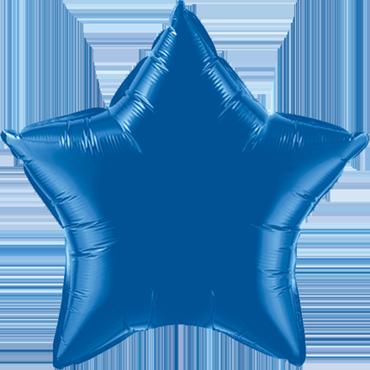 Dark Blue Foil Star 20in/50cm