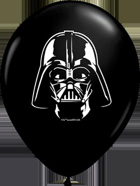 Darth Vader Face Fashion Onyx Black Latex Round 5in/12.5cm