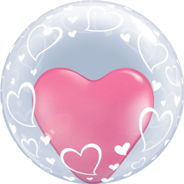 Deco Bubble Stylish Hearts 24in/60cm