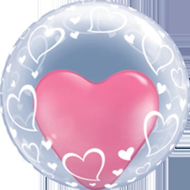 Deco Bubble Stylish Hearts 24in/60cm