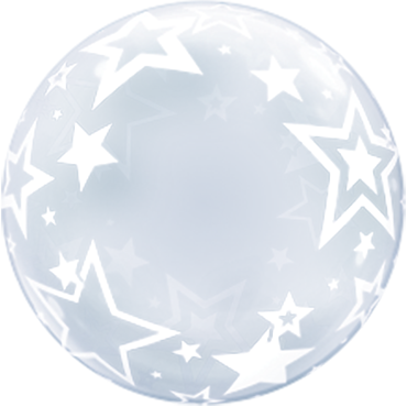 Deco Bubble Stylish Stars 24in/60cm