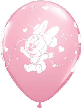 Disney Baby Minnie Hearts Standard Pink Latex Round 11in/27.5cm
