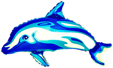 Dolphin Dark Blue Holographic Foil Shape 36in/90cm