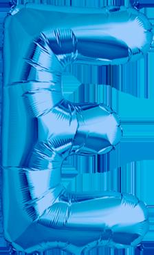 E Blue Foil Letter 34in/86cm