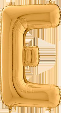 E Gold Foil Letter 26in/66cm