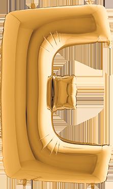 E Gold Foil Letter 7in/18cm