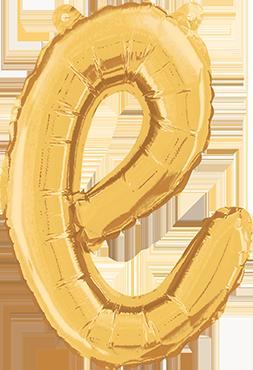 E Script Gold Foil Letter 14in/36cm