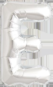 E Silver Foil Letter 34in/86cm