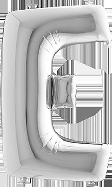 E Silver Foil Letter 7in/18cm