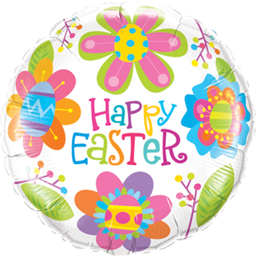 Easter Colourful Blossoms Foil Round 18in/45cm