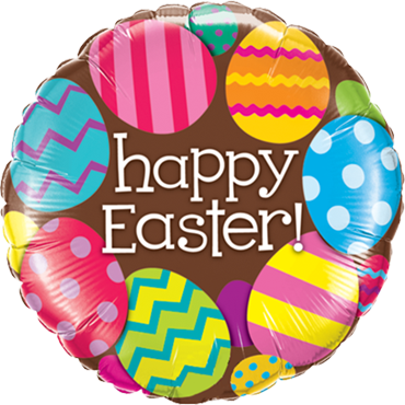Easter Eggs and Chocolate Foil Round 18in/45cm