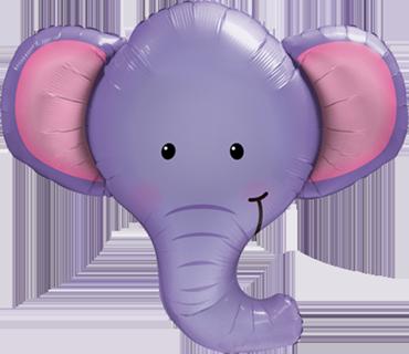 Ellie The Elephant Foil Shape 39in/99cm